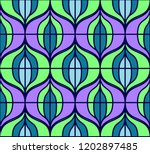 seamless retro pattern in the... | Shutterstock .eps vector #1202897485