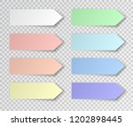 post sticky note isolated. set... | Shutterstock .eps vector #1202898445