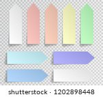 post sticky note isolated. set... | Shutterstock .eps vector #1202898448