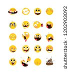 set of yellow emotional heads ... | Shutterstock .eps vector #1202903092