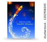 firecracker on happy diwali... | Shutterstock .eps vector #1202908345