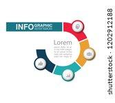 vector infographic template for ... | Shutterstock .eps vector #1202912188