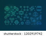 block chain cryptocurrency...   Shutterstock .eps vector #1202919742