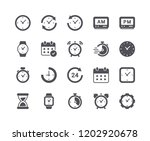 minimal set of time and clock... | Shutterstock .eps vector #1202920678