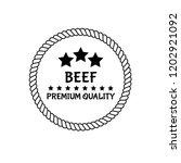 beef premium quality badge.... | Shutterstock .eps vector #1202921092
