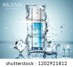 skincare product ads with... | Shutterstock .eps vector #1202921812
