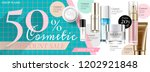 cosmetic sale banner ads with... | Shutterstock .eps vector #1202921848