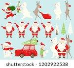 christmas team set. santa claus ... | Shutterstock .eps vector #1202922538