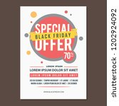 poster design black friday with ... | Shutterstock .eps vector #1202924092