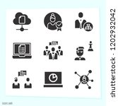 simple set of 9 icons related... | Shutterstock .eps vector #1202932042
