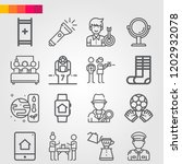 simple set of 16 icons related... | Shutterstock .eps vector #1202932078