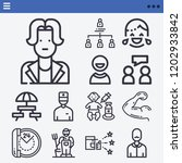 set of 13 people outline icons... | Shutterstock .eps vector #1202933842