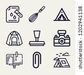 set of 9 tool outline icons...   Shutterstock .eps vector #1202941138
