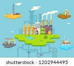 factory refinery plant... | Shutterstock . vector #1202944495