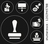 set of 6 business filled icons... | Shutterstock .eps vector #1202945788