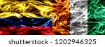 colombia vs ivory coast smoke... | Shutterstock . vector #1202946325