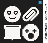 set of 4 interface filled icons ... | Shutterstock .eps vector #1202950675