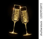champagne glass vector icon.... | Shutterstock .eps vector #1202951872