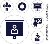 set of 6 business filled icons... | Shutterstock .eps vector #1202952628
