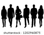 vector silhouettes men and... | Shutterstock .eps vector #1202960875