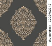 vector damask seamless pattern... | Shutterstock .eps vector #1202962342