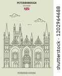 peterborough cathedral in... | Shutterstock .eps vector #1202964688