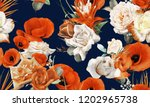 seamless floral pattern with... | Shutterstock . vector #1202965738