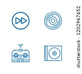 collection of 4 dvd outline...   Shutterstock .eps vector #1202967652