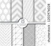 set of vector seamless patterns.... | Shutterstock .eps vector #1202976028