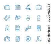collection of 16 lock outline... | Shutterstock .eps vector #1202982385