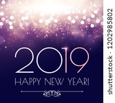 happy hew 2019 year  fileworks  ... | Shutterstock .eps vector #1202985802