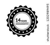 14 years anniversary... | Shutterstock .eps vector #1202989495