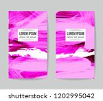 set of vector business card...   Shutterstock .eps vector #1202995042