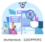 mobile phone protection from... | Shutterstock .eps vector #1202999392