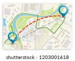city map navigation route ... | Shutterstock .eps vector #1203001618