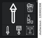 set of 6 vintage outline icons... | Shutterstock .eps vector #1203002308