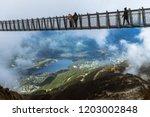 whistler peak suspension bridge | Shutterstock . vector #1203002848