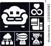 set of 6 space filled icons... | Shutterstock .eps vector #1203003082