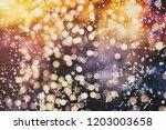 christmas light background.... | Shutterstock . vector #1203003658
