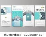flyers set  modern banners.... | Shutterstock .eps vector #1203008482