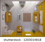 render of 3d contemporary... | Shutterstock . vector #1203014818