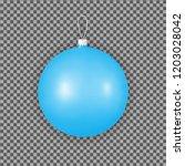 blue christmas ornaments for... | Shutterstock .eps vector #1203028042