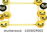 smiling yellow and black... | Shutterstock . vector #1203029002