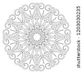 coloring book page. vintage...   Shutterstock .eps vector #1203030235