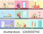 spa center and beauty salon...   Shutterstock .eps vector #1203033742