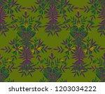 seamless watercolor pattern in... | Shutterstock . vector #1203034222