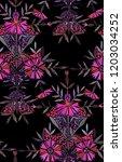 seamless watercolor pattern in... | Shutterstock . vector #1203034252