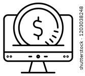 online shopping icon. vector... | Shutterstock .eps vector #1203038248
