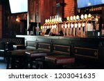 classic bar with bar counter... | Shutterstock . vector #1203041635