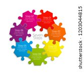 seven sided circle puzzle... | Shutterstock .eps vector #1203044815